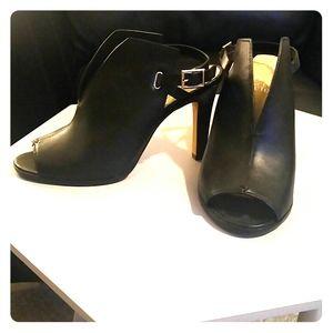 Black backless heels